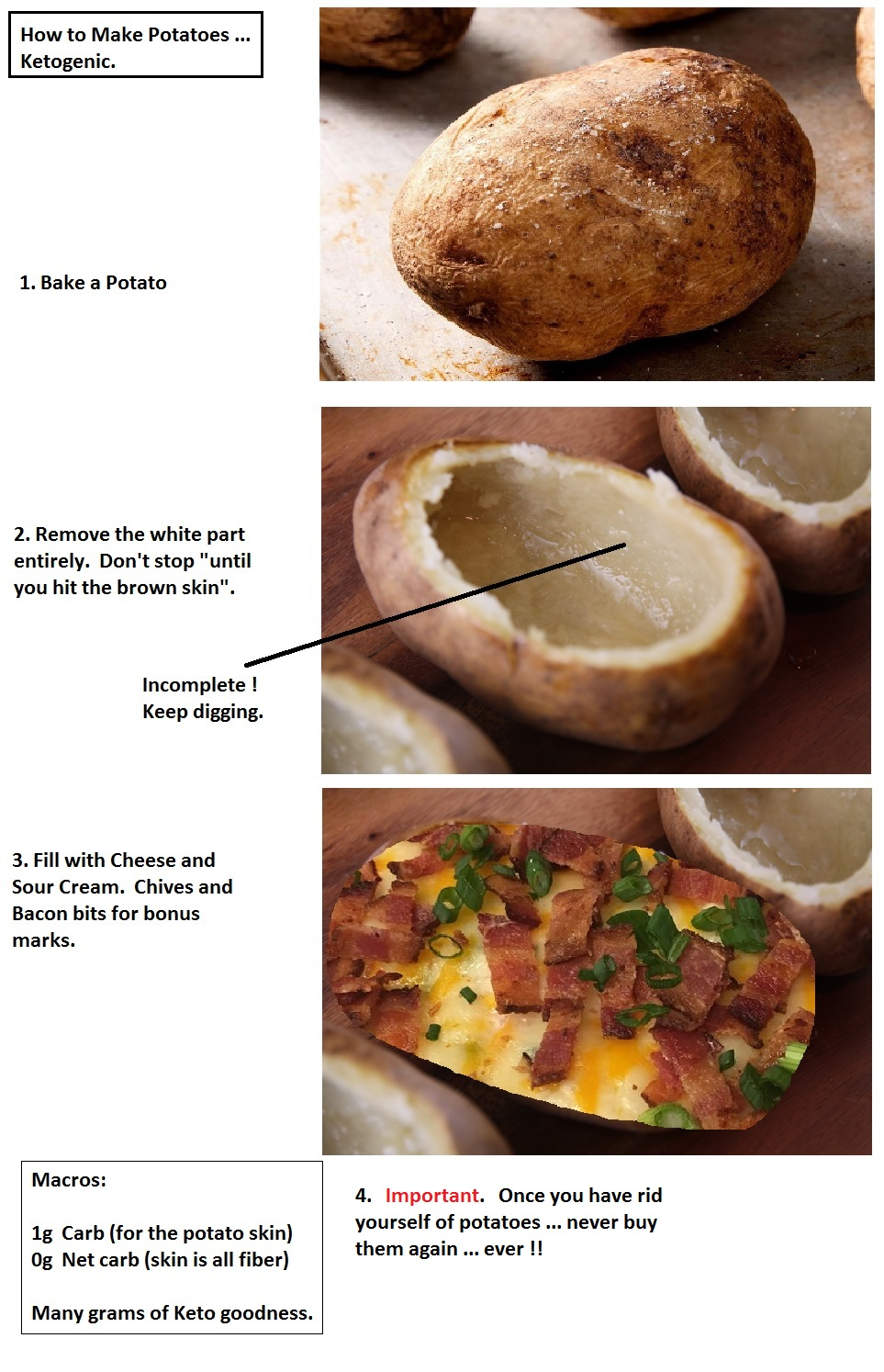 are baked potatoes ok for keto diet