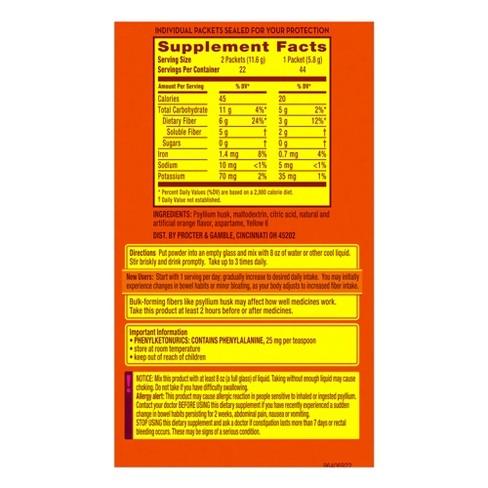 net carbs of metamucil sugar free
